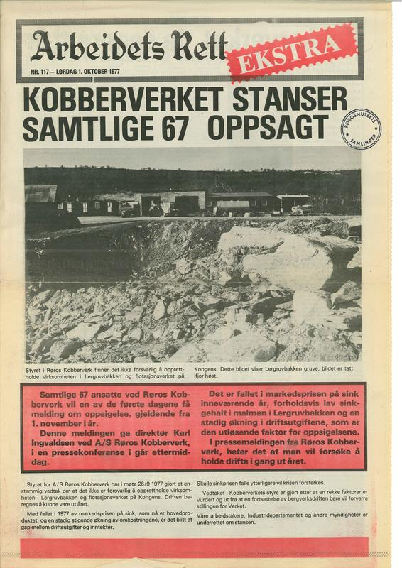 Arbeidets Rett Kobberverkets konkurs (Foto/Photo)