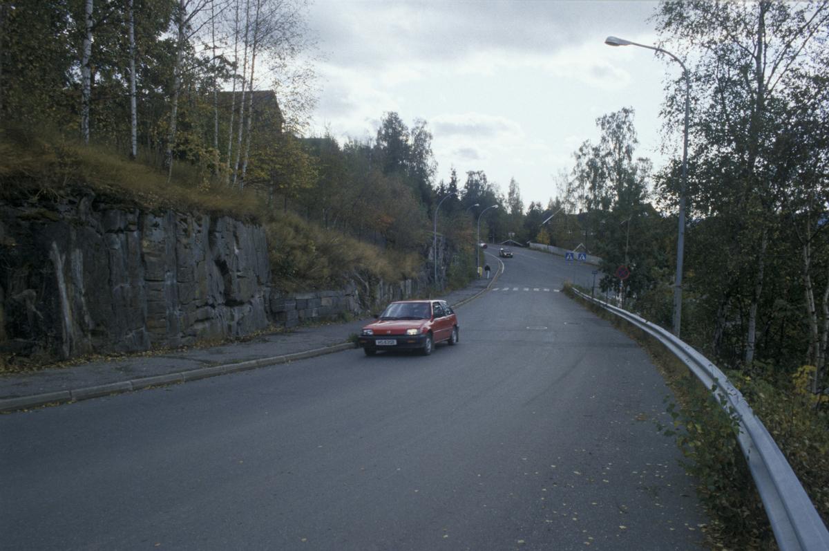 Lillehammer, Maihaugvegen med starten ved Anders Sandvigs gate, sør-vestover, utsikt