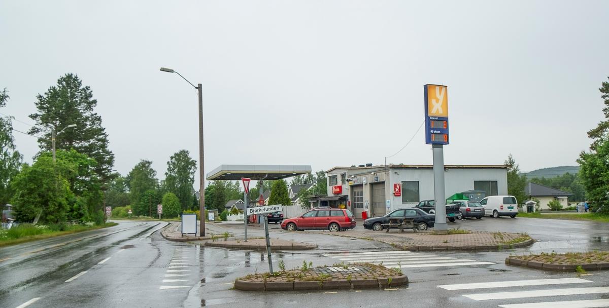 YX bensinstasjon Bjørkelunden Fenstad Nes
