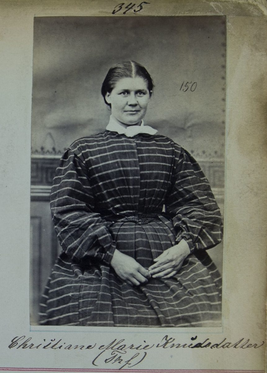 Fangeportrett, Christiane Marie Knudsdatter