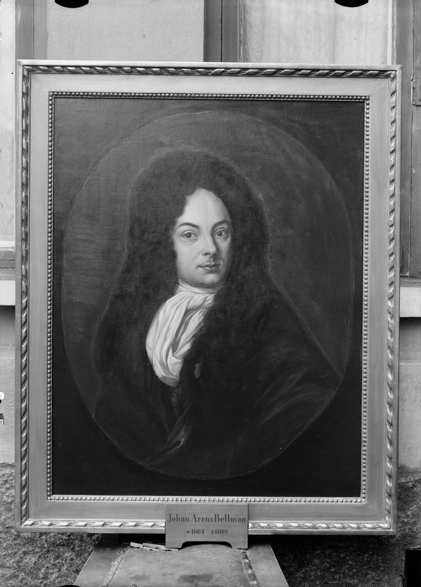 Kopia av oljemålning - musikern och professorn Johan Arent Bellman, inspektor vid Stockholms nation 1703 - 1709