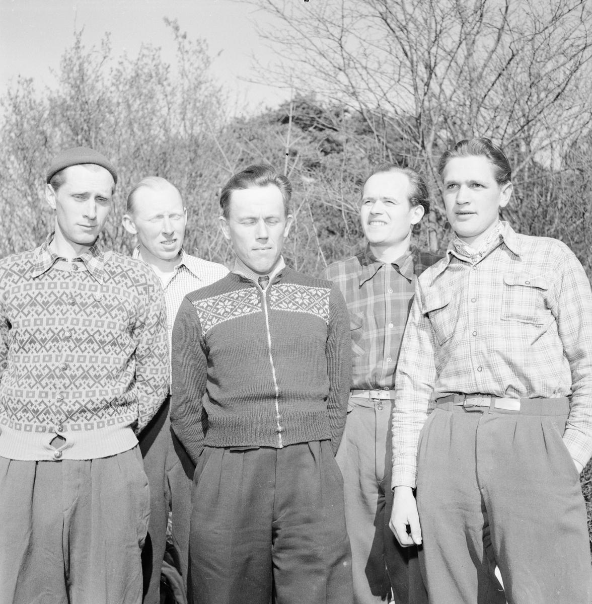 Orientering, budkaveln, Kvarnbo, Hållnäs socken, Uppland, april 1952