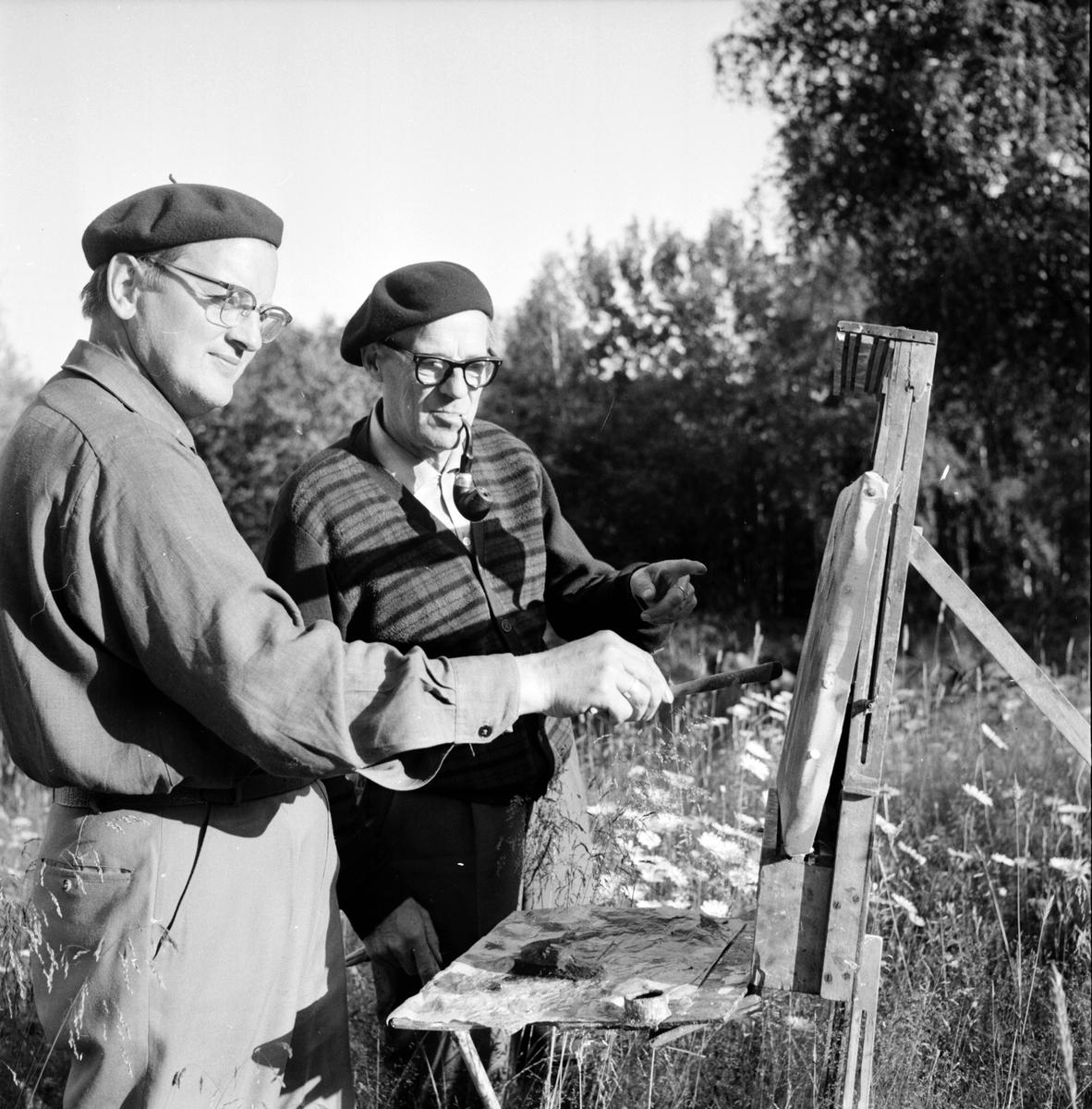 Olovsfors, Målarkolonin hos Lisa Jonsson, Fritiof Strandberg, Erik Lövgren, 22 Juli 1965