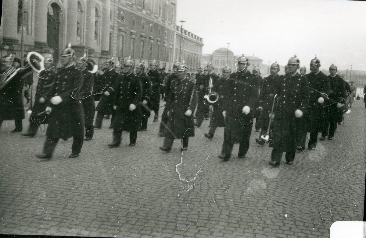 Vaktparaden i Stockholm.