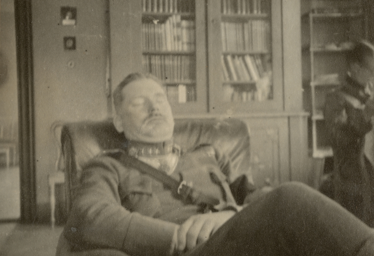 Kapten Wrangel vilar.