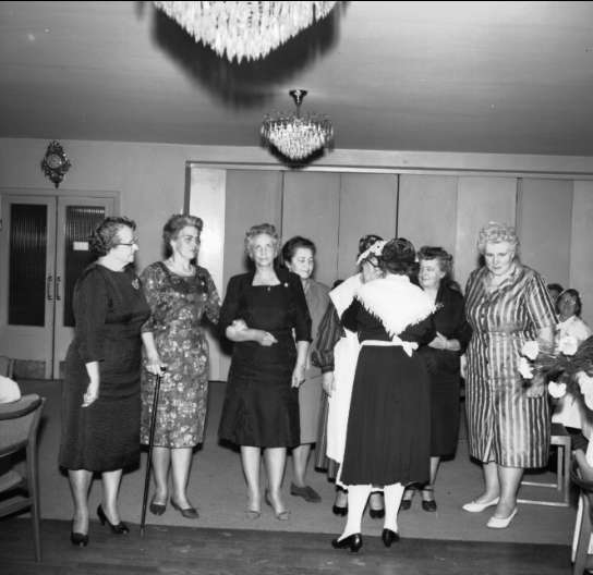 Husmodersföreningen Karlsborg, 15-års jubileum 1963. Endast neg finns.