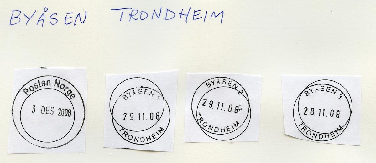 Stempelkatalog Byåsen, Trondheim, Sør-Trøndelag