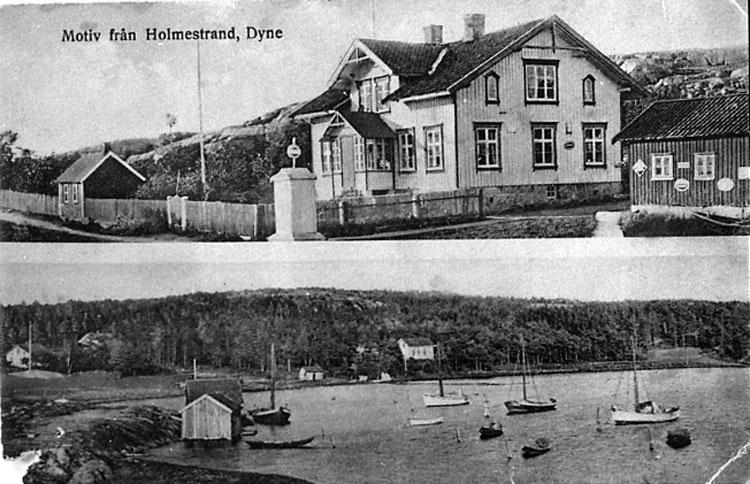 """Vykort. """"Motiv från Holmestrand, Dyne."""""""