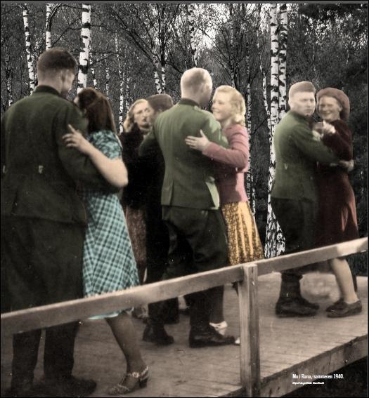 Norske kvinner med tyske soldater.
