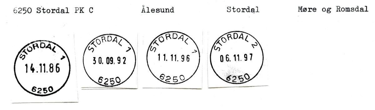 Stempelkatalog 6250 Stordal, Stordal kommune, Møre og Romsdal