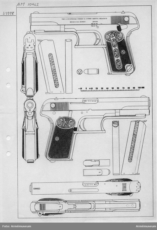 """Grupp E III e. Märkt """"5"""". Koppelringen saknas. Ändrad enligt Krags patent på samma sätt som AM 1932:10960."""