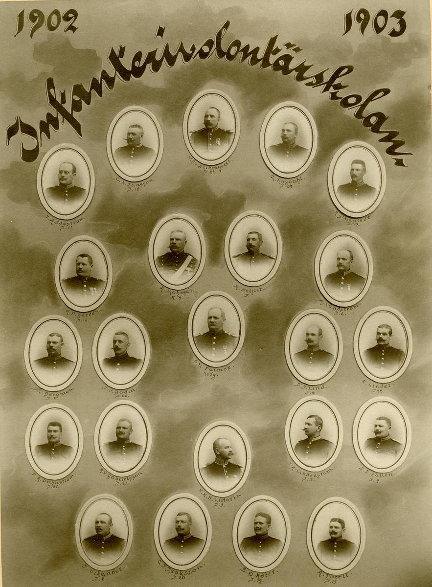 Infanterivolontärskolan 1902-1903.