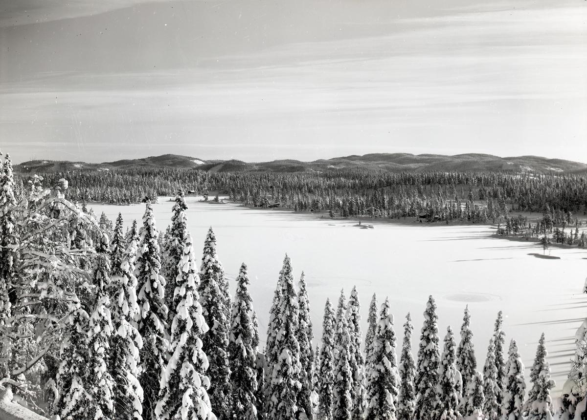 Vinterstemning ved Tonsvatnet på Tonsåsen.