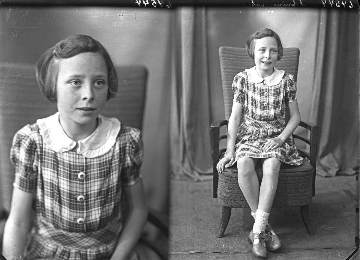 Portrett. Familie. Ung pike. Bestilt av Kari Samsonsen. John Risøysgt. 135.