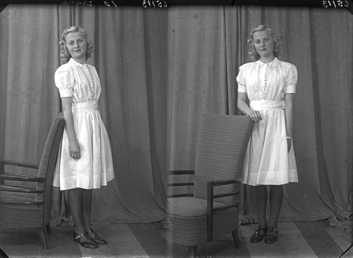 Portrett. Ung kvinne. Konfirmant. Bestilt av Berit Skogland. Henrik Ipsensgt. 25