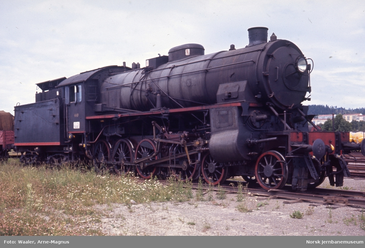Utrangert damplokomotiv type 31b nr. 449 på Verkstedet Grorud