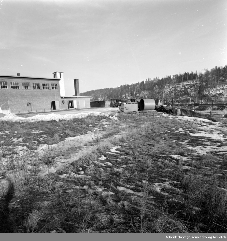 Tveita-området i Østre Aker. Mars 1961