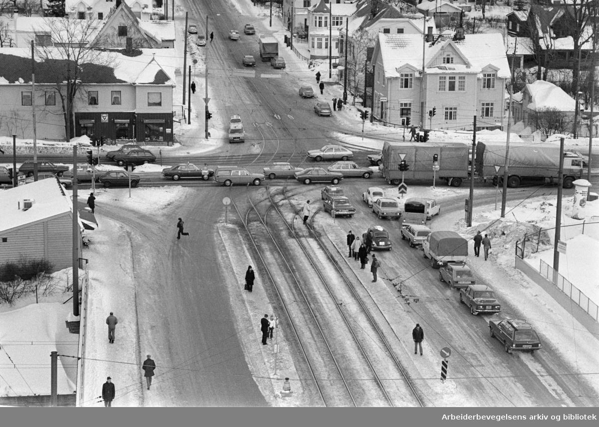 Storo-krysset. Februar 1978