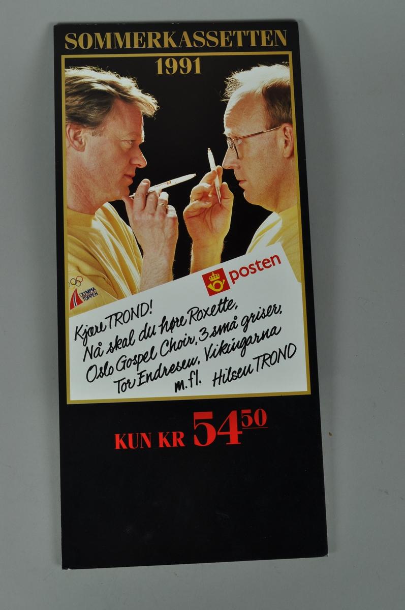 Rektangulær plakat med bilde av Trond Kirkevaag og Trong Viggo Torgersen.
