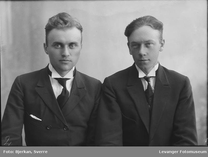 Portrett av to menn. en heter Reidar Lorntzen, den andre er navnet ukjent