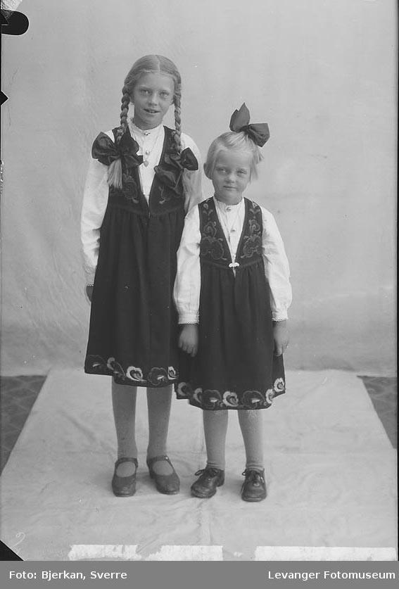 Portrett, trolig av to søstre. Sogneprest Pharos Barn navn ukjent