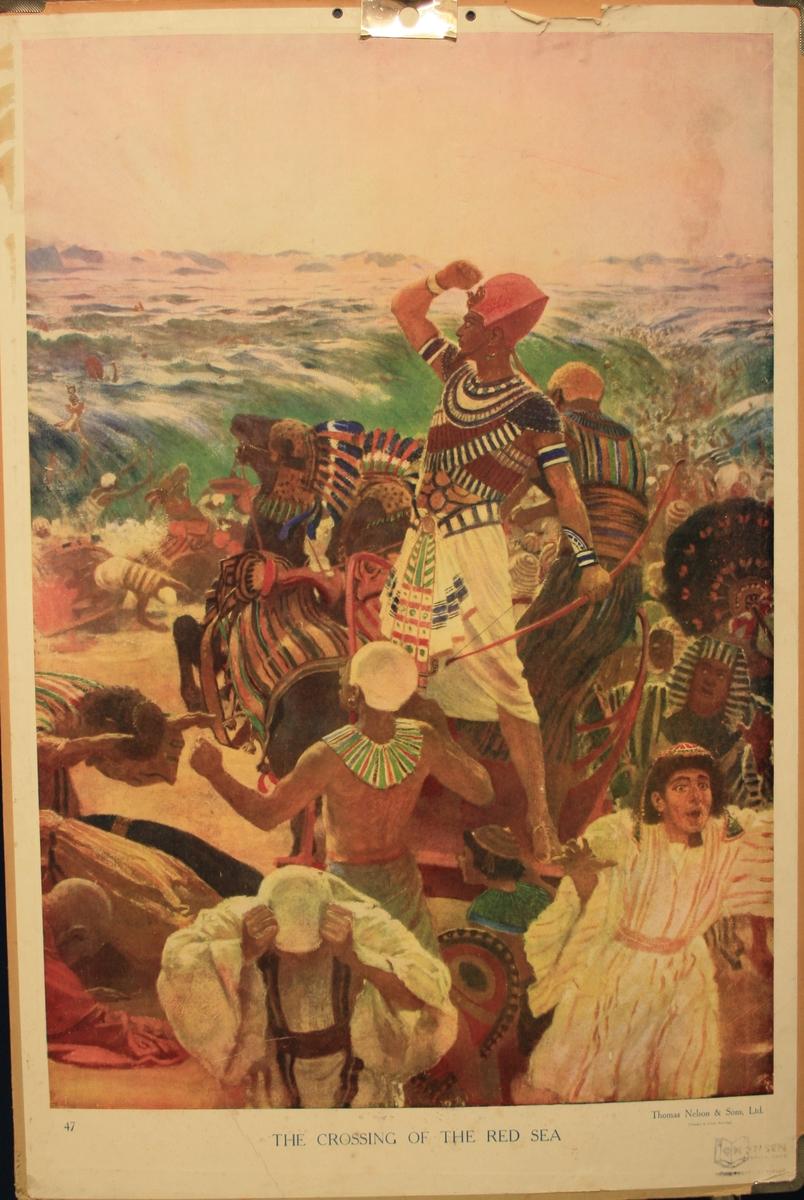 Farao sin hær blir teken av Raudehavet.