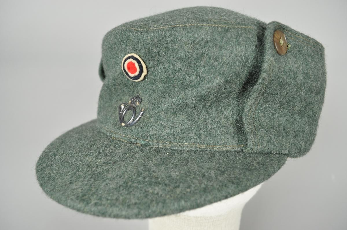 Uniformslue, vinter  med øreklaffer for postbud