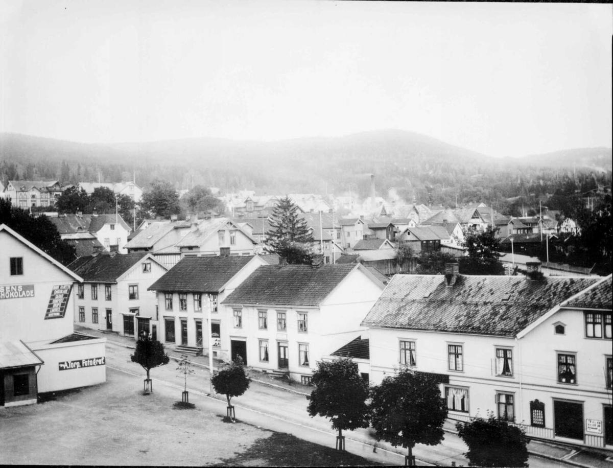 Repro: Bebyggelse i Jernbanegaten, Lillehammer.