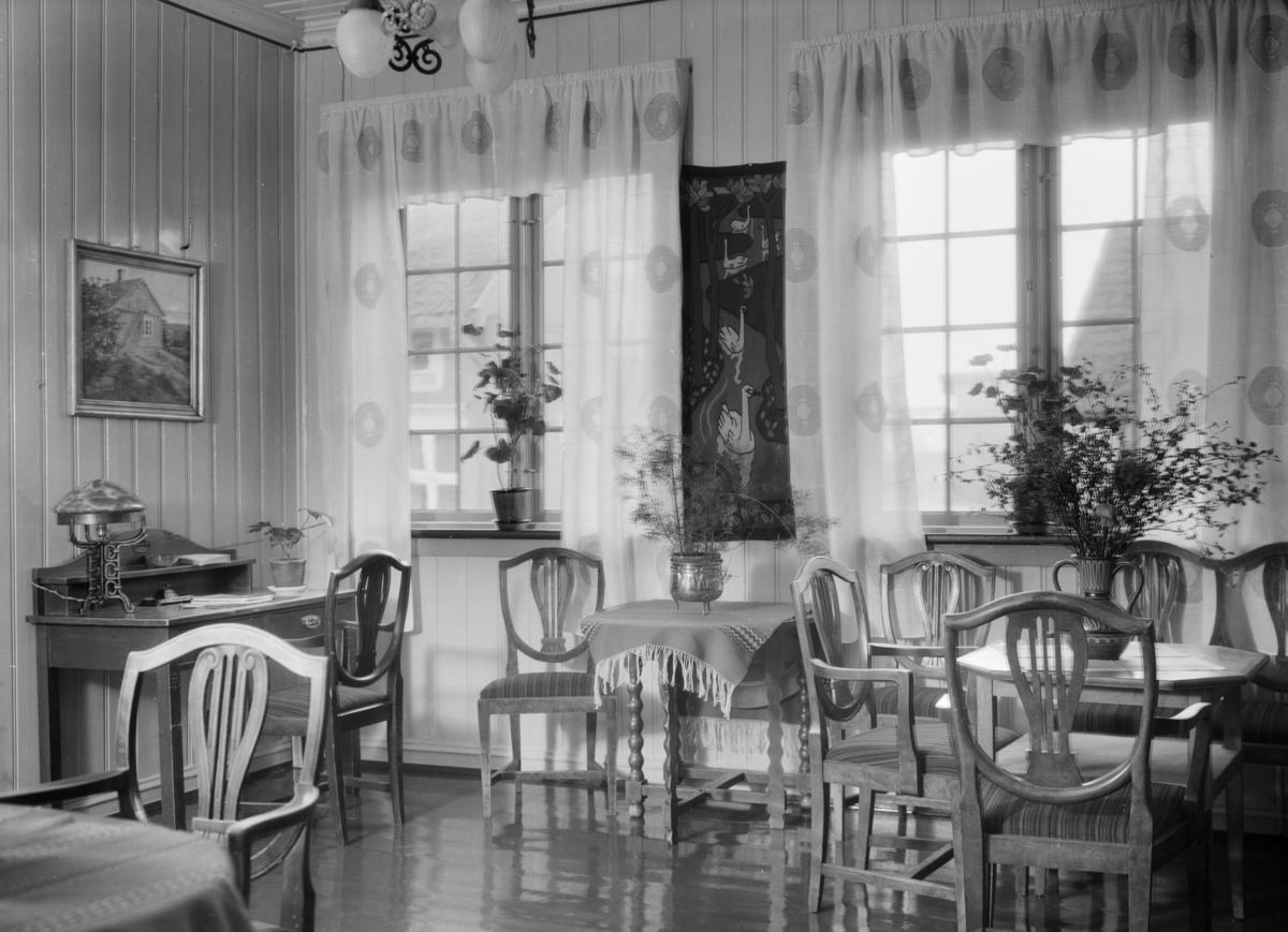 Interiør fra Hotell Dølaheimen i Lillehammer.