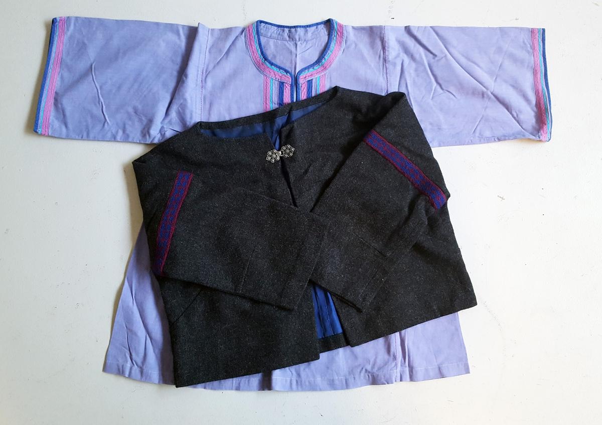 Ulike  heimesydde klede/teikstilar
