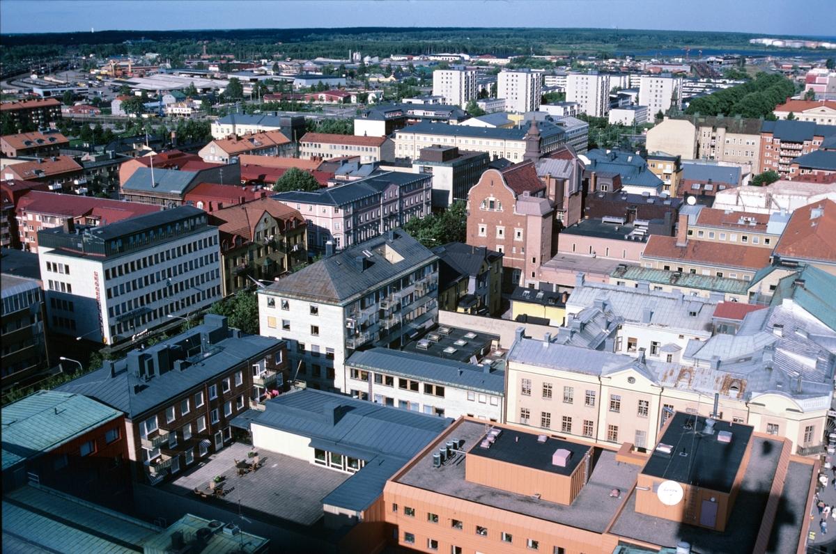 Stadsvy, mot östra stadsdelen i Gävle. Från Helige Trefaldighet kyrktorn.