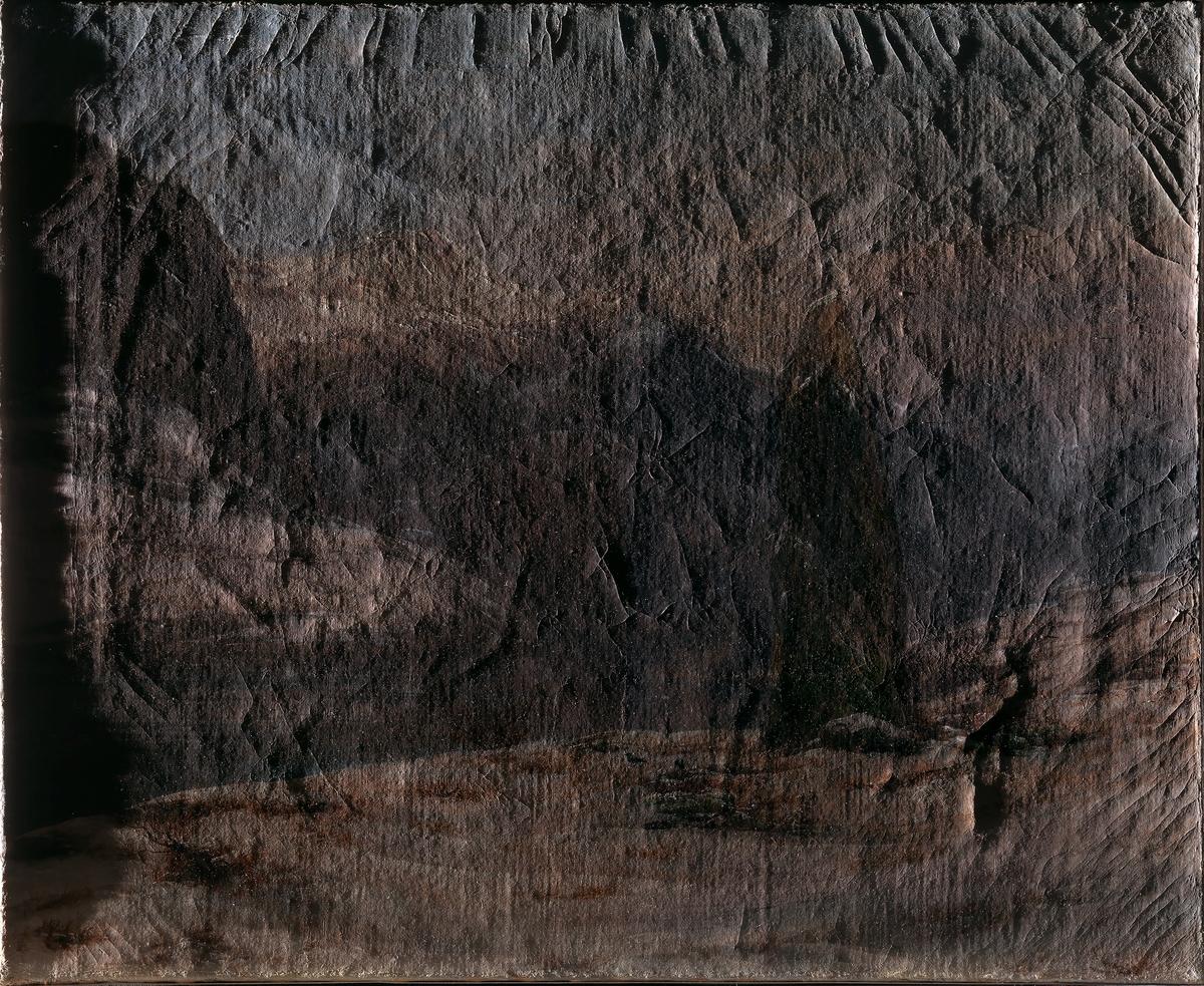 Vinter ved Sognefjorden [Maleri]