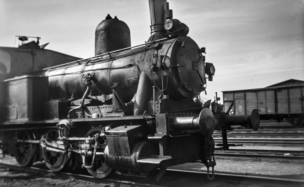 Damplokomotiv type 43a nr. 95 i skiftetjeneste på Trondheim stasjon.