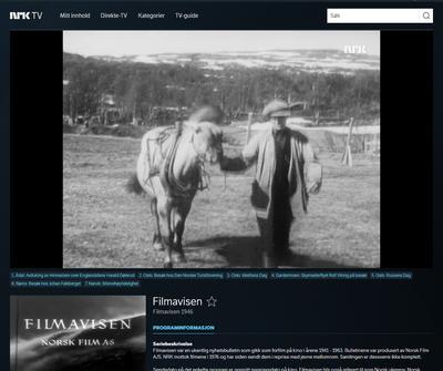 NRK Filmavisen på besøk på Ratvolden 1946