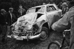 """""""Oslotur august september 1960"""".Studebaker coupe, trolig 194"""
