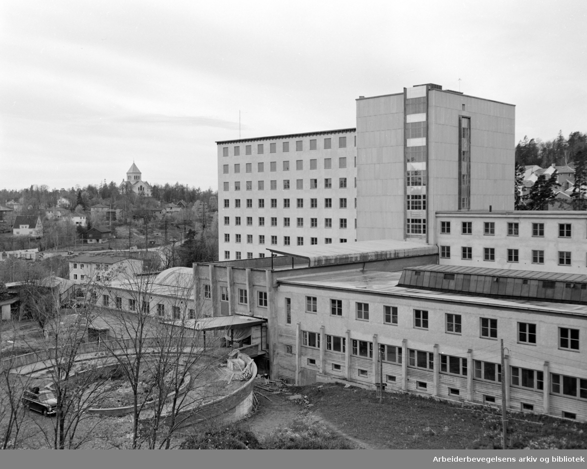 Radiumhospitalet. Oktober 1956