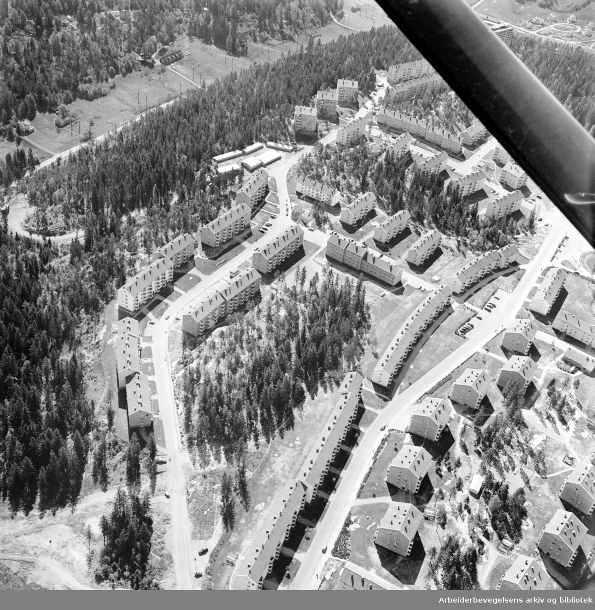Lambertseter (flyfoto). Juni 1962