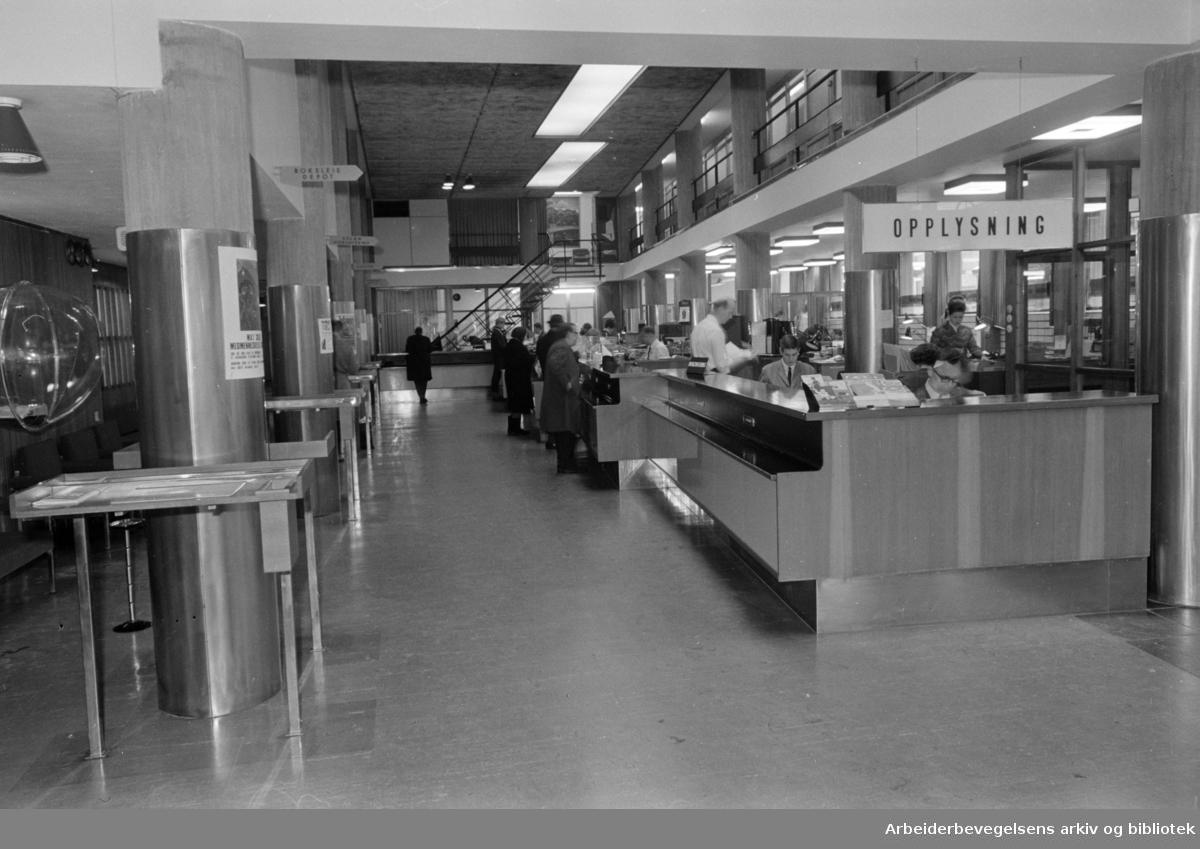 Landsbanken. Arbeidernes Landsbank på Youngstorget. Nye lokaler. Februar 1968