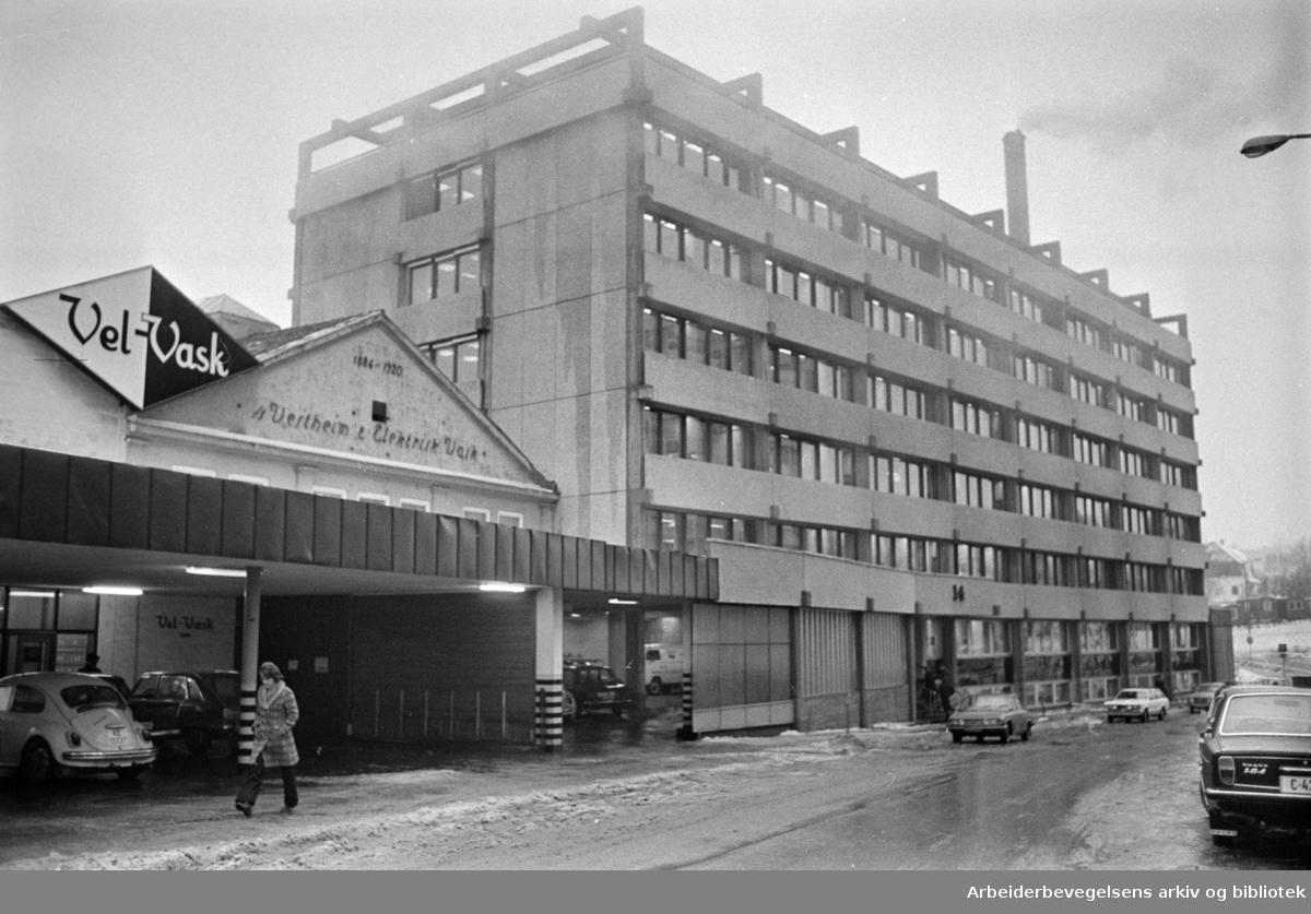 Fridtjof Nansens vei: NORAD, direktoratet for utviklingshjelp. Februar 1976