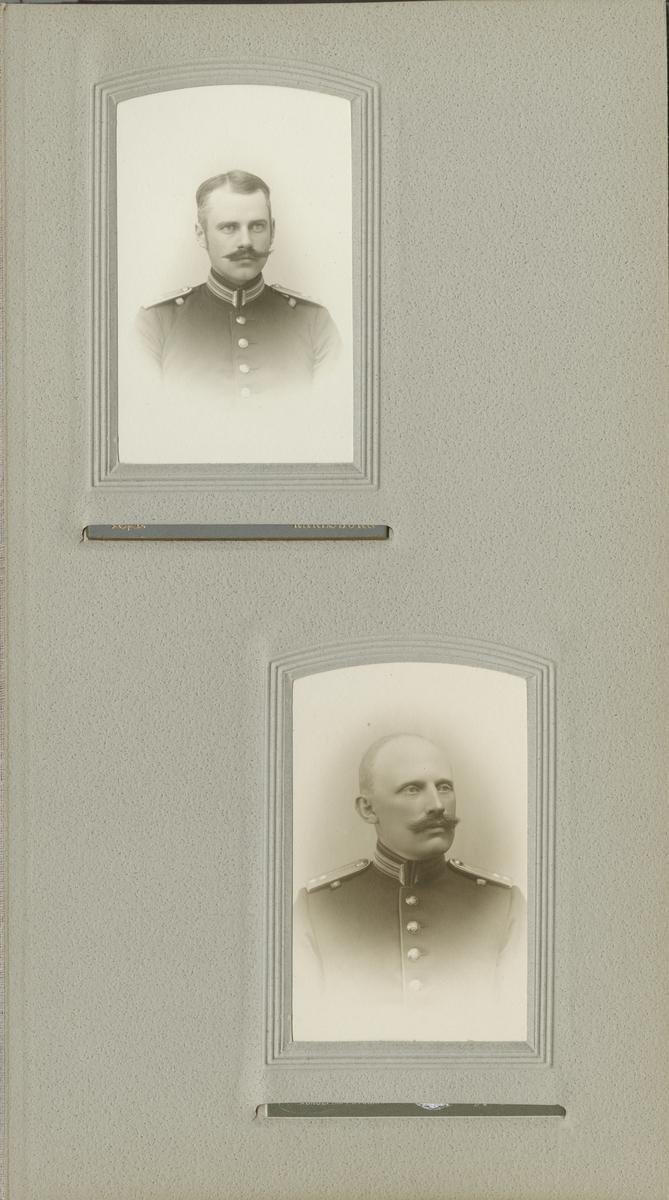Porträtt av Tage Herman August Falck, löjtnant vid Södra skånska infanteriregementet I 25.  Se även bild AMA.0009620.