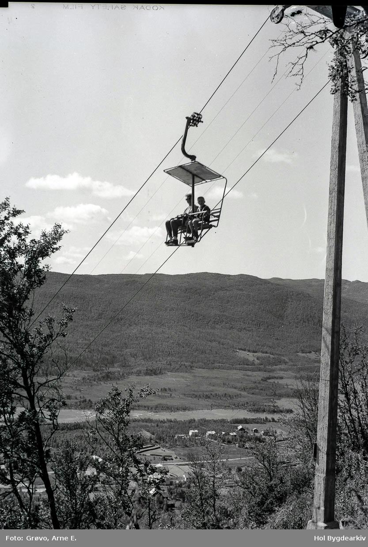 Geilo taubane, sommar, heisstol, mast,personar2,Ustedalsfjorden