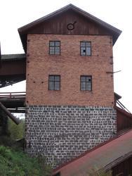 Motiv: Arbeten vid Granbergsdals hytta  1: Masugnsbyggnade