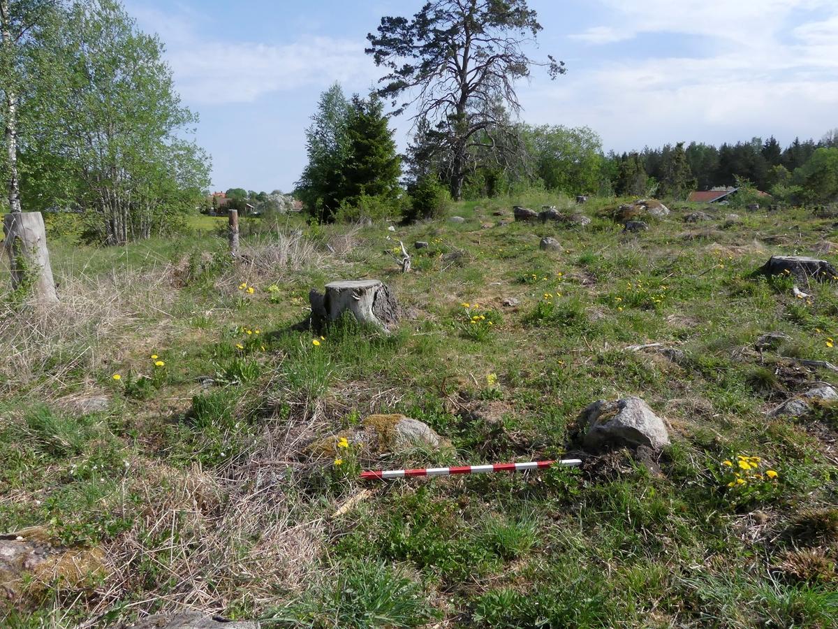 Kartering och dokumentation, A307, grav, gravfält 176:1, Trevlinge, Rasbo socken, Uppland 2018