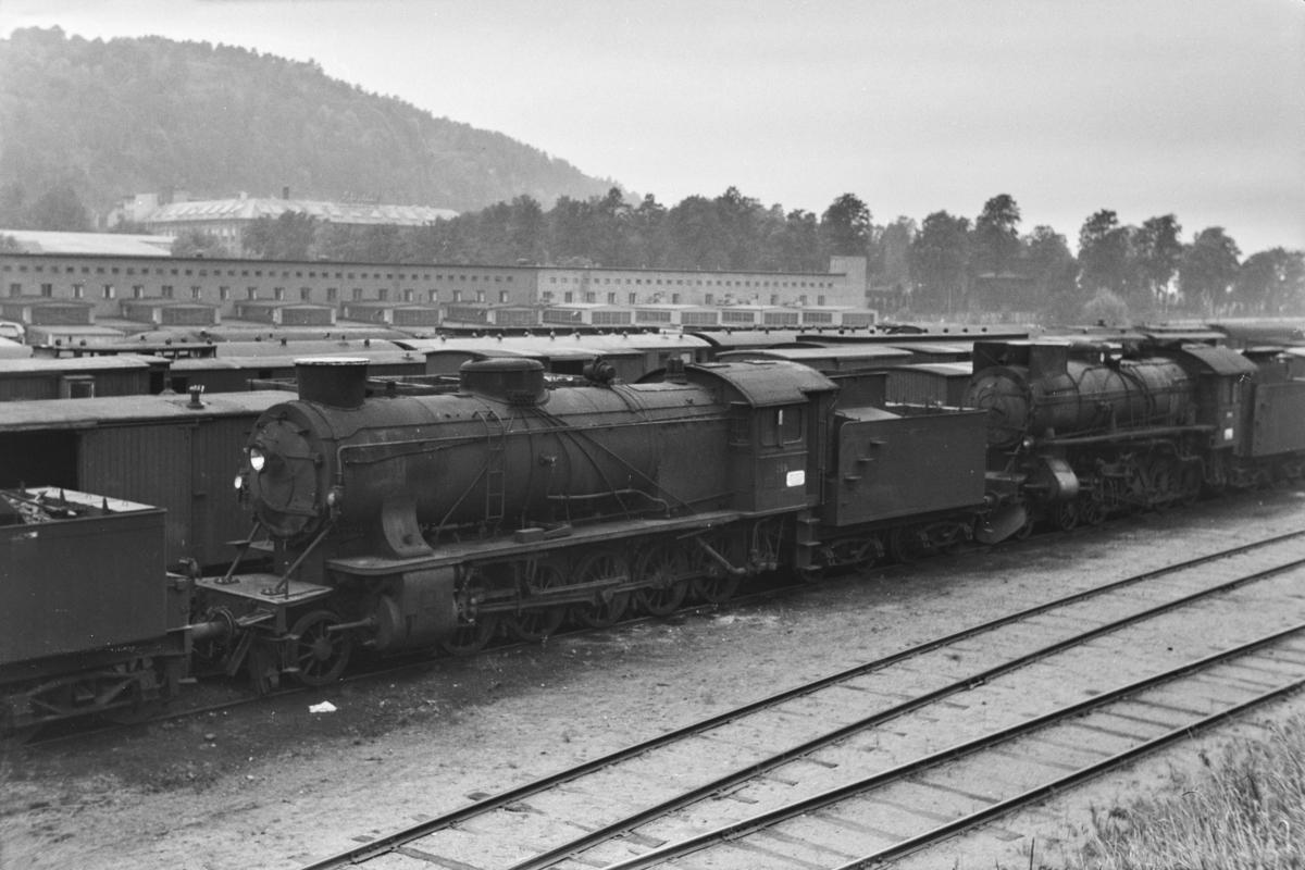 Hensatt damplokomotiv type 39a nr. 169i Lodalen i Oslo.