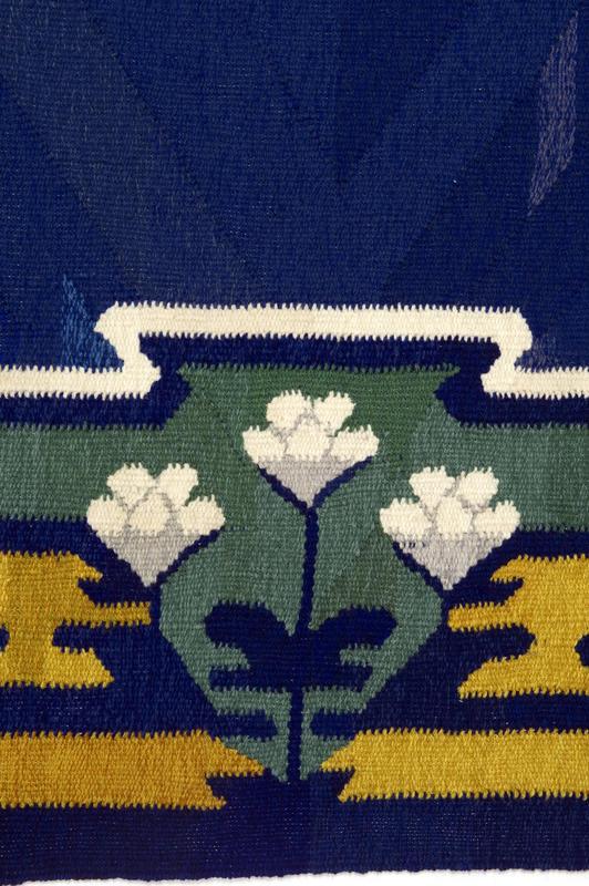 Detalj av gulvteppe NF.2012-0400. Gave fra Norsk Folkemuseums Venner i 2010. (Foto/Photo)