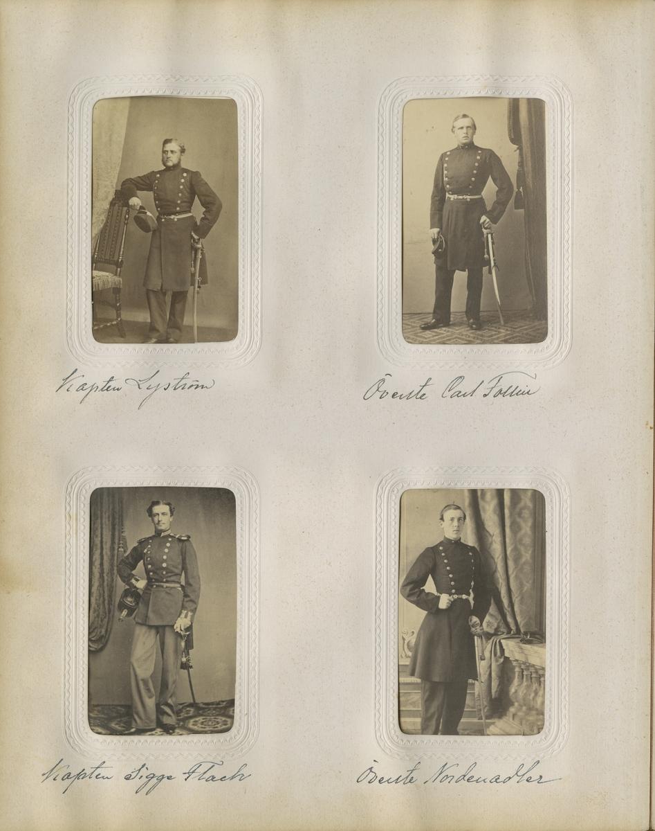 Porträtt av Fredrik Christer Sigismund (Sigge) Flach, officer vid Västgöta regemente I 6. Se även bild AMA.0007243 och AMA.0007290.