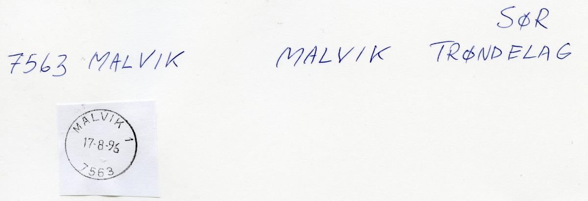 Stempelkatalog, 7563 Malvik, Trondheim, Malvik kommune, Sør-Trøndelag