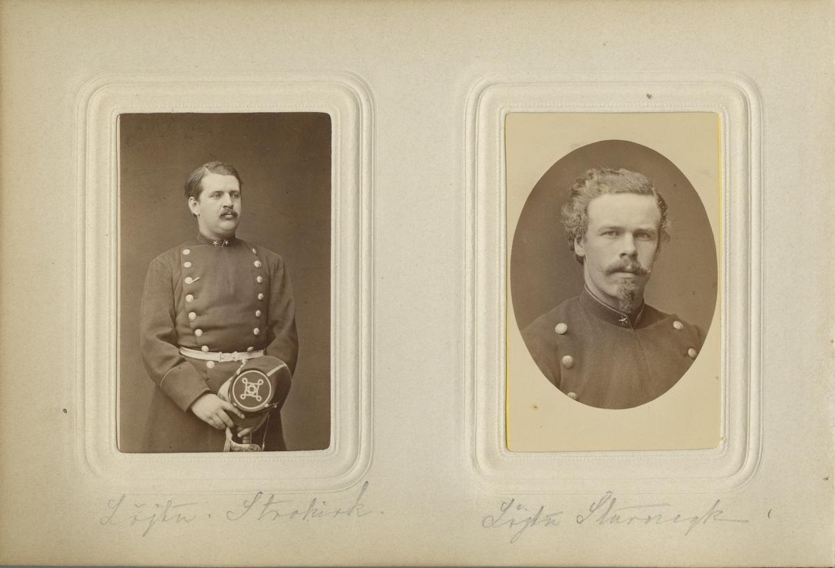 Porträtt av Lars Gustaf Conrad Sturnegk, underlöjtnant vid Västmanlands regemente I 18.