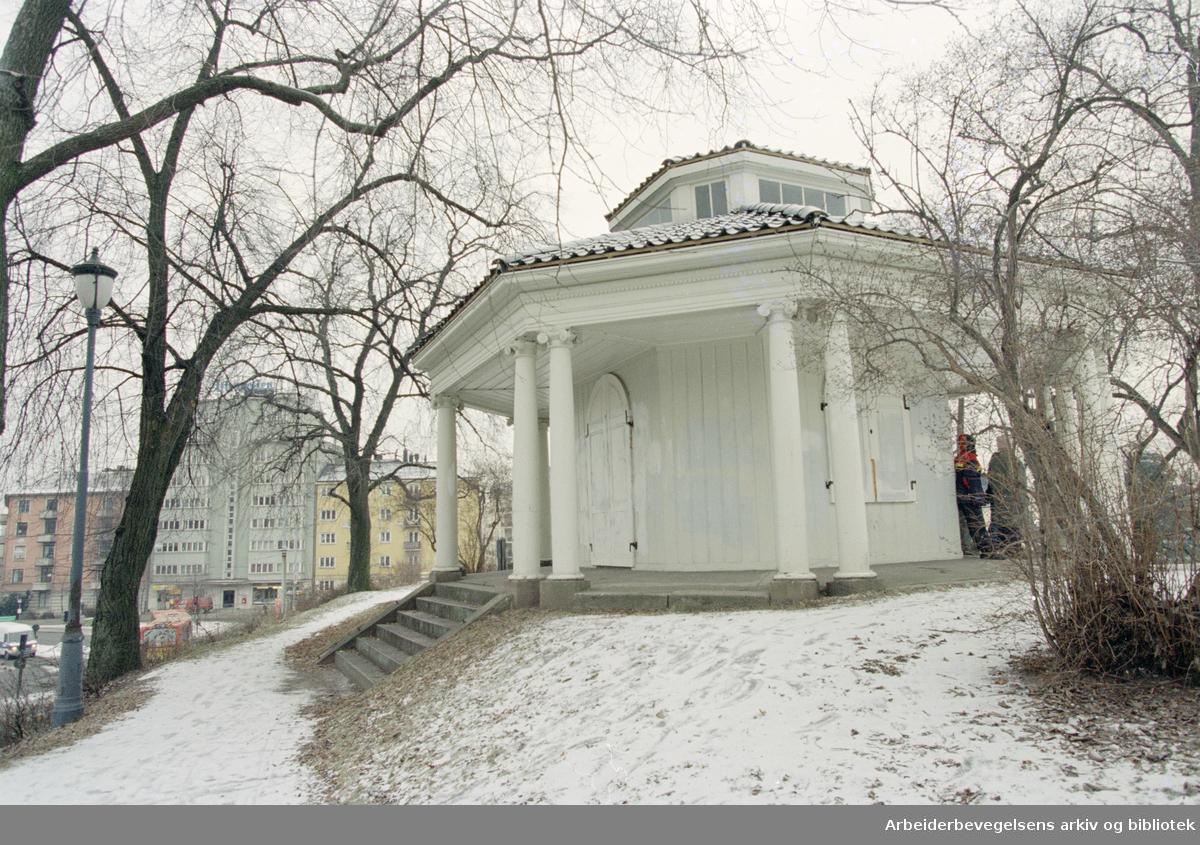 Bymuseet, Frogner hovedgård. Tepaviljongen. 2. februar 1996