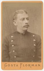 Porträtt av Emil Georg Wockatz, underlöjtnant vid Bohusläns